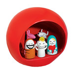 A di Alessi, crib, red