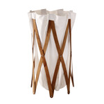 Marie Pi Laundry Basket, walnut / beige