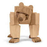 Areaware - Wooden Creatures Ursa the Bear, large