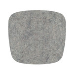 Hey Sign Felt Cuhion Eames Plastic Armchair, light grey mottled 5 mm AR, with anti-slide coating