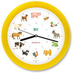 KooKoo - Kids World Wall Clock, yellow