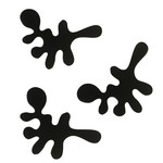 Frost - Mini Camouflage Wall Hooks, set of 3, black