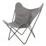 Manufakturplus - Butterfly (B.K.F.) chair - steel black / acrylic, grey