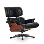 Vitra - Lounge Chair, polished / sides black, cherry wood (classic size)