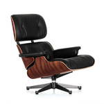 Vitra -  Lounge Chair, polished / sides black, Santos rosewood - classic size