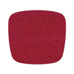 Hey Sign - Felt Cushion Eames Plastic Armchair, poppy-red 5mm, without anti-slide coating