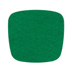 Hey Sign - Felt Cushion Eames Plastic Armchair, clover green 5mm, without anti-slide coating