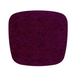 Hey Sign - Felt Cushion Eames Plastic Armchair, aubergine 5mm, without anti-slide coating
