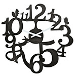 Koziol - [pi:p] wall clock, black