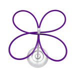 Roomsafari - lucky clover umbrella stand, polystyrene, purple
