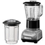KitchenAid - Artisan blender with 1.5 l glass container and 0.75 l mixing pot, medallion silver