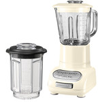 KitchenAid - Artisan blender with 1.5 l glass container and 0.75 l mixing pot, almond cream