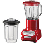KitchenAid - Artisan blender with 1.5 l glass container and 0.75 l mixing pot, empire red