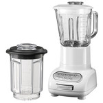 KitchenAid - Artisan blender with 1.5 l glass container and 0.75 l mixing pot, white