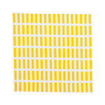 Artek - Siena Fabric Napkin, white / yellow