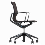 Vitra - Physix Office Chair, black pearl / deep black, soft wheels for hard grounds
