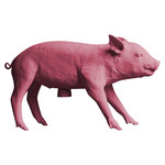 Areaware - Pig Bank, fluo pink