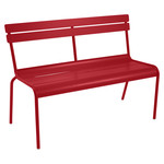 Fermob - Luxembourg Bench, stackable, poppy red