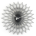Vitra - Sunflower Clock, black / brass