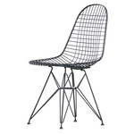 Vitra - Wire Chair DKR, black / without coating, felt pads