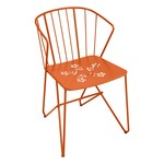 Fermob - Flower Armchair with perforation, orange