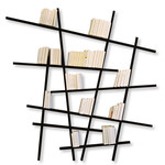 Edition Compagnie - Mikado bookshelf beech wood, black / large