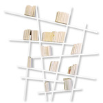 Edition Compagnie - Mikado bookshelf beech wood, white / large