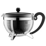 Bodum - Chambord Teapot Plastic, coloured filter, black, 1.3 L