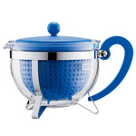 Bodum - Chambord Teapot Plastic, coloured filter, blue, 1.3 L