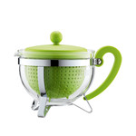Bodum - Chambord Teapot Plastic, coloured filter, lime, 1.0 L