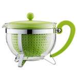 Bodum - Chambord Teapot Plastic, coloured filter, lime, 1.3 L