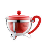 Bodum - Chambord Teapot Plastic, coloured filter, red, 1.0 L