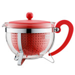 Bodum - Chambord Teapot Plastic, coloured filter, red, 1.3 L