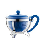 Bodum - Chambord Teapot Plastic, coloured filter, blue, 1.0 L