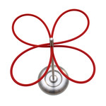 Roomsafari - lucky clover umbrella stand - steel, red