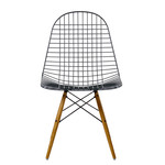 Vitra - Wire Chair DKW, basic dark / yellowish maple frame, felt pads (without coating)