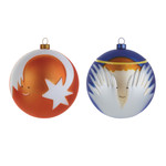 A di Alessi - Stella Cometa and Angioletto Christmas Bauble-Set
