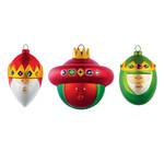 A di Alessi - Gaspare, Melchiore and Baldassarre Christmas Bauble-Set