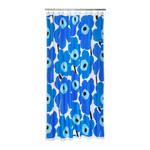 Marimekko - Unikko Shower Curtain, white / blue