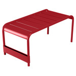 Fermob - Luxembourg wide low table / garden bench, poppy red