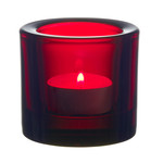 Iittala - Kivi Votive Candle Holder, cranberry red