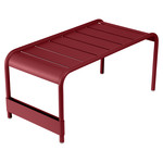 Fermob - Luxembourg wide low table / garden bench, chili