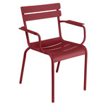 Fermob - Luxembourg Armchair, stackable, chili