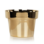 Skultuna - Flower Pot medium, brass polished