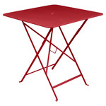 Fermob - Bistro Folding Table, 71 x 71, poppy red