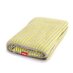 Fatboy - Klaid blanket, light grey / neon yellow