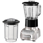 KitchenAid - Artisan blender with 1.5 l glass container and 0.75 l mixing pot, brushed nickel