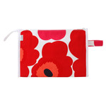 Marimekko - Pieni Unikko Media Markiisi Cosmetic Bag, white / red