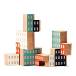 Areaware - Blockitecture, wooden architecture toy, Habitat