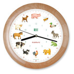 KooKoo - Kids World Wall Clock, wood